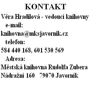 Kontakt knihovny
